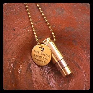 Gold Silver unisex Fighting Hunger Bullet Necklace