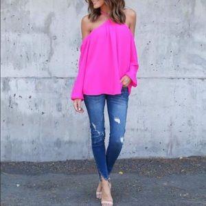 NWT off the shoulder strappy blouse