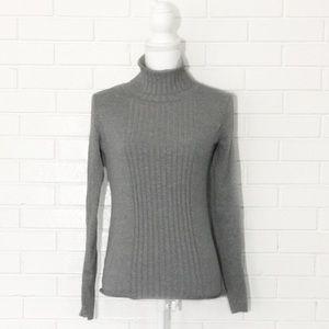 Make Bundle Offer • Gray Ribbed Turtleneck Sweater