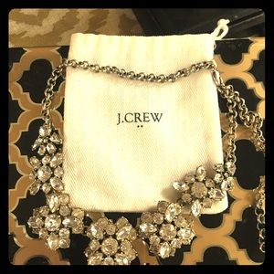 J.Crew Authentic Crystal Flower Necklace