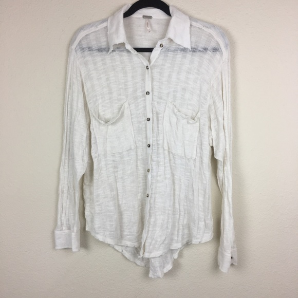 154c331b6df5 Free People Tops - FREE PEOPLE FP BEACH SWEATER BUTTON UP