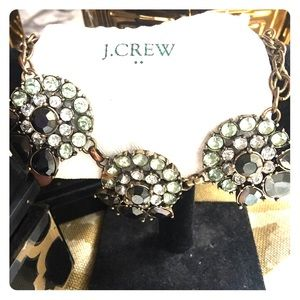 J.Crew Authentic Crystal Flower Cluster Necklace