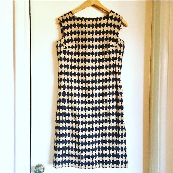 7fb97815eef Vintage 1960s geo print shift dress with pockets. M_586dd2b9f0137dc47301d4d8
