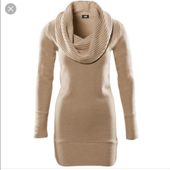 474d747dc15 H M Dresses   Skirts - H M cream cowl neck sweater dress