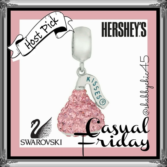 Swarovski Jewelry - *HP* Hershey's Kiss Swarovski Charm-Now Available