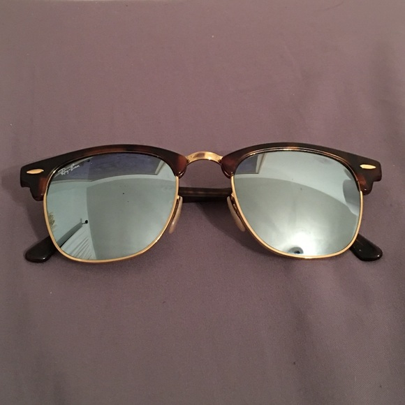 256a09797c7e8a Ray Ban Clubmaster Tortoise with Silver Flash Lens.  M 586ddb0b2ba50a723601f50a