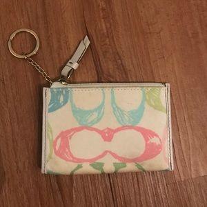 Coach Handbags - Coach Scribble Slim Wallet