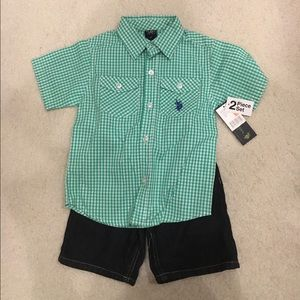 U.S. Polo Assn. Other - US Polo 2piece polo shirt and short set
