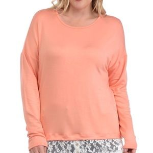 PLUS French Terry Lace Contrast Top 