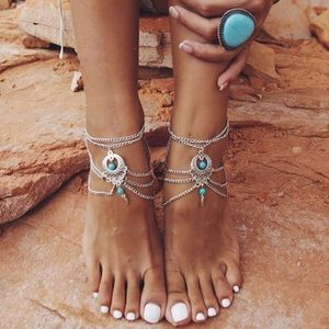NWT ankle Foot chain jewelry