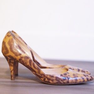 J. Crew Shoes - J.Crew Patent Leopard Heels (Made in Italy)