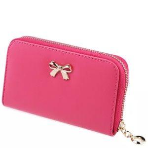 Handbags - 🎀Rose Pink Bow Wallet 🎀