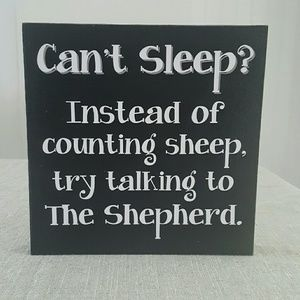 Wood Sign | Can't Sleep?