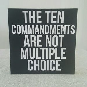 Huckleberry Row  Other - Wood Sign | Ten Commandments