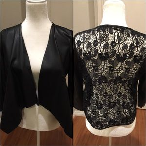 Zara Faux Leather Jacket with Lace