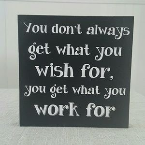 Wood Sign | Wish For Work For