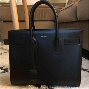 Saint Laurent Handbags - Saint Laurent Paris Black Sac De Jour Small