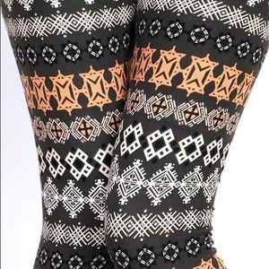 Pants - TRIBAL PEACH SKIN LEGGINGS