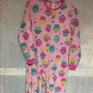 Other - Flannel Pajamas w Feet LIKE NEW Girls