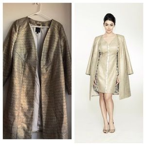Isabel Toledo Jackets & Blazers - Isabel Toledo gold evening coat size 14