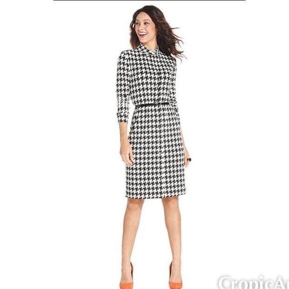 5809389e015 Anne Klein Dresses & Skirts - Anne Klein Houndstooth Shirt Dress