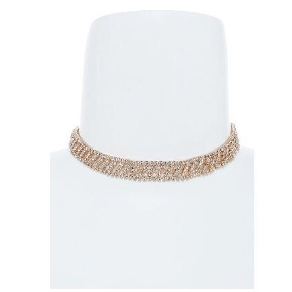 "Tanya Kara Jewelry - ""Get it Girl"" Thin Blingy Gold Choker Necklace"