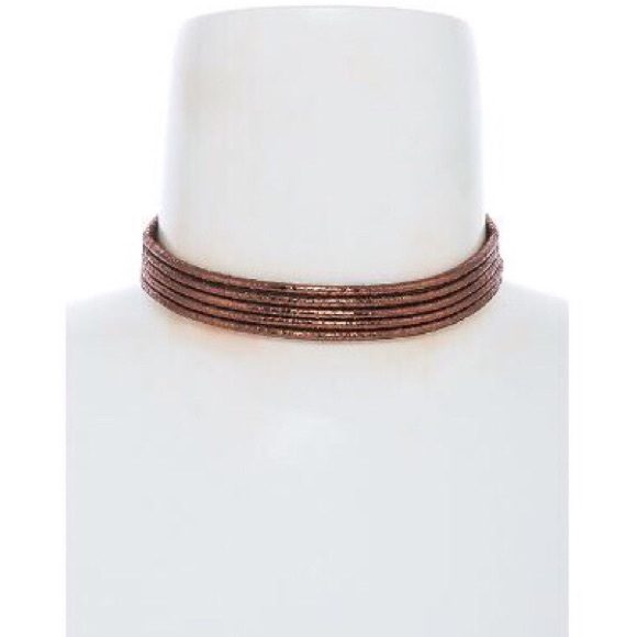 "Tanya Kara Jewelry - ""Gladiator"" Copper 3 Rope Choker"