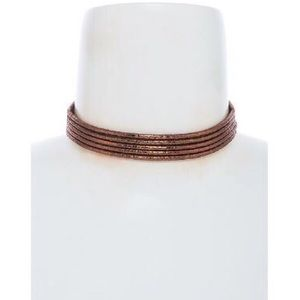 """Gladiator"" Copper 3 Rope Choker"