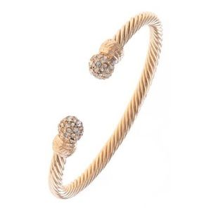"Jewelry - ""Girls Run the World"" Gold Bangle"