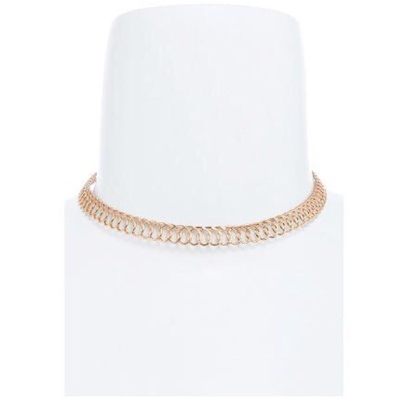"Jewelry - ""Gold Tattoo Choker"" Necklace"