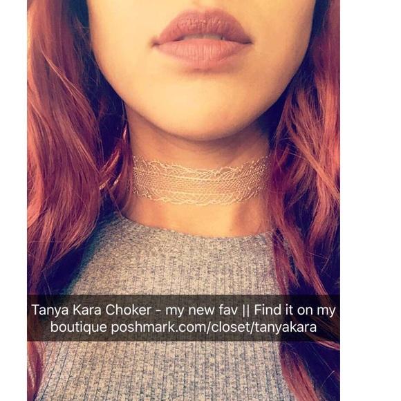 "Jewelry - ""Tanya Kara"" Silver Material Choker"