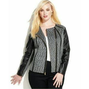 Calvin Klein  Jackets & Blazers - 🎉HP🎉 CALVIN KLEIN Plus Size Faux Leather Jacket