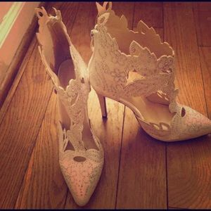 Lace cut out heels