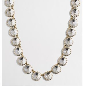 J. Crew factory brass plated crystal necklace