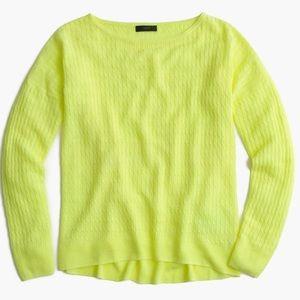 J.Crew Linen Cable Crewneck Sweater