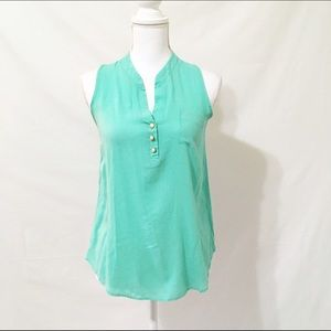 Everly Tops - EVERLY Sleeveless Mint Green Blouse
