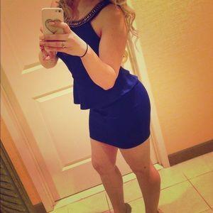 Charlotte Russe blue peplum dress
