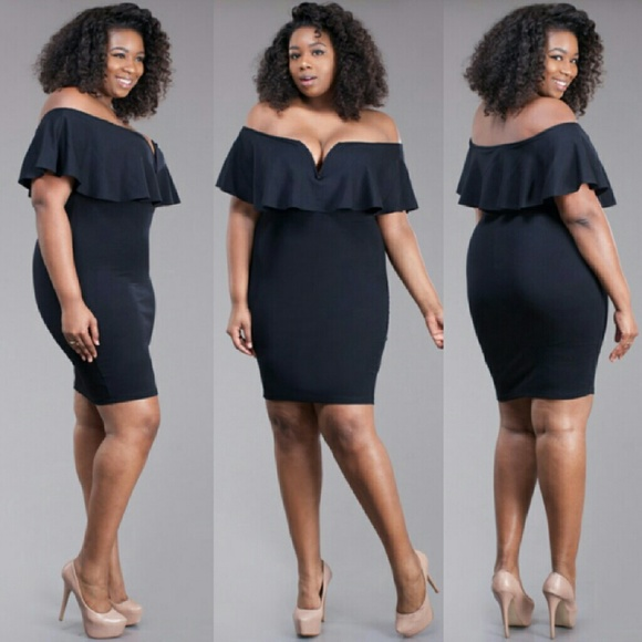 Dresses Plus Size Off Shoulder Black Dress 1x 2x 3x Poshmark