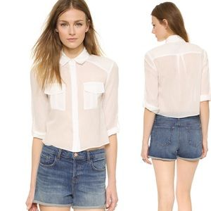 Alice + Olivia Tops - Alice + Olivia Marie Cargo Pocket Button Down