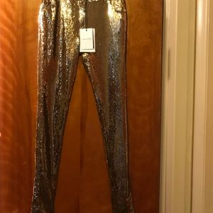 sass & bide Pants - Sass & Bide Gold Sequined Slack💜