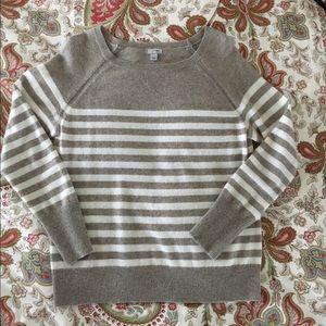 Halogen Stripe Cashmere Sweater