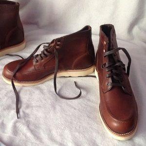 45df45908e8 Wolverine Shoes - Wolverine Men s EMERSON Lace Up Brown Boots 9 Rust
