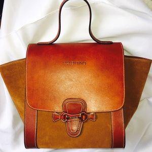 Mario Valentino Handbags - Authentic Valentino Amy Satchel Leather Bag
