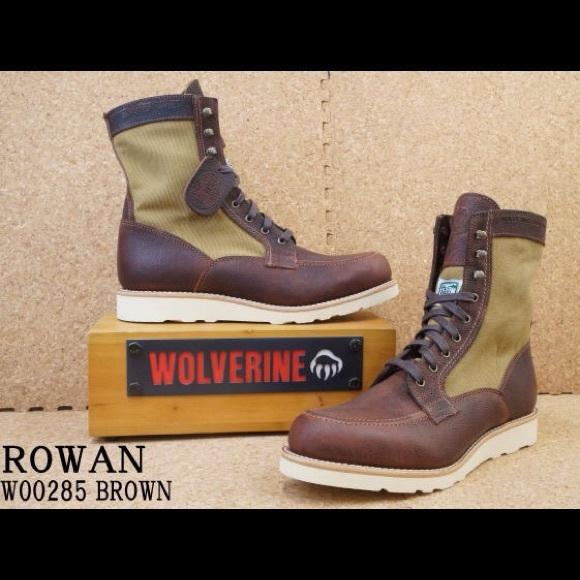 a2b5332445a Wolverine ROWAN Lace up Boot W00285 Filson canvas