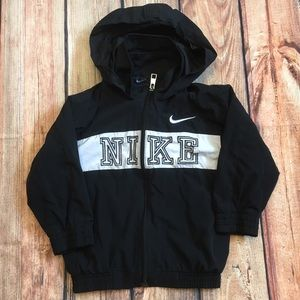 Nike Other - Baby size 2t Nike zip up hoodie black white