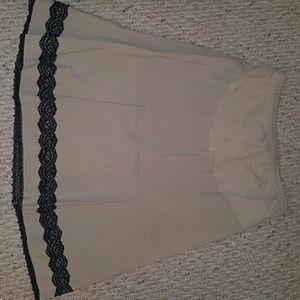 Motherhood Maternity Dresses & Skirts - Motherhood Maternity khaki & black lace skirt- Med