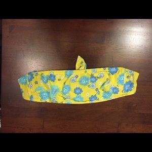 Lilly Pulitzer Blue Yellow Floral Bikini Top Tube
