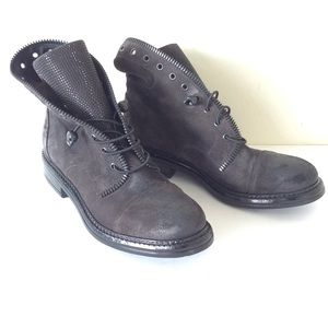 275 central black crystal combat boot size 9