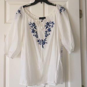 Karen Kane Tops - Karen Kane peasant blouse