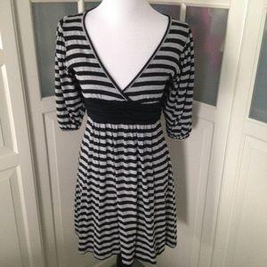 Velvet Torch Dresses & Skirts - Black and gray stripe dress by love torch